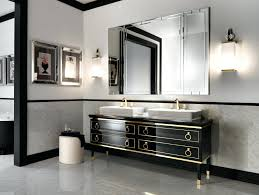 italian bathroom vanity luxury in black lacquer gold wood vanities