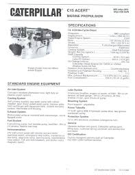 find the best diesel engine transmission and generator brochures now cat c15 brochure specification 1 jpg