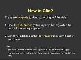 art teacher cover letter popular critical analysis essay editing     example of apa citation in paper   Screen capture of APA In text Citation  Example