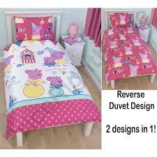 peppa pig funfair bedroom range duvet covers junior bedding