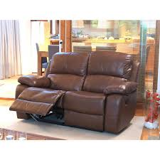 vida living primo 2 seater top grain leather recliner old saddle brown luxury sofas