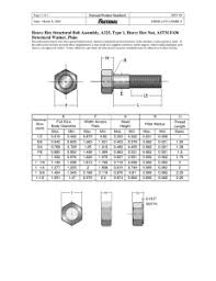 Stud Bolts Astm A193 Sa193 B7 Stud W 2h Heavy Hex Nut Plain
