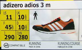 Adidas Men Shoes Size Chart Adidas Shoe Size Chart Solereview