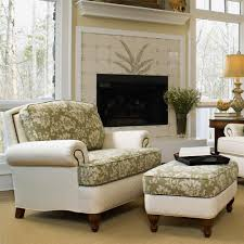 Living Room Chair With Ottoman Perfect Chairs With Ottomans For Living Room Homesfeed