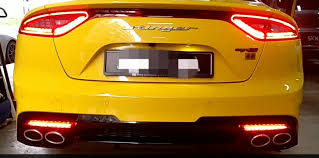 Kia Stinger Sequential Lights Sequential Deflector Led 0 00 Carbon Fibre Sticker