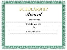 scholarship templates formal scholarship award certificate template sample helloalive