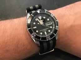 the author s seiko sea urchin with a blushark nato strap