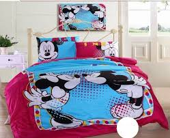 mickey and minnie bedding sets mouse comforter cover sheet disney