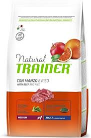 <b>TRAINER Natural Medium</b> Beef Rice KG. 3 Dry Food For Dogs ...