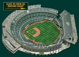 Oakland Coliseum Interactive Seating Chart 46 Rational Pnc Park 3d Seating Chart