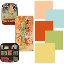 mucha art nouveau color palette