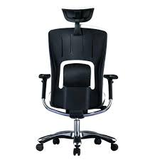 office chair genuine leather white. White Leather Executive Chair Shop Gm Seating Genuine Hi Swivel Chrome Base Office B