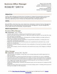 Office Management Resume Business Office Manager Resume Samples Qwikresume