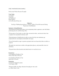 Sample Of Waitress Resume Beauteous Restaurant Waiter Resume Restaurant Waitress R Vintage Example Of A