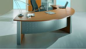 Desk: Amusing Curved Office Desk 2017 Ideas Curved Corner Desk With Regard  To New Home Curved Office Desk Plan