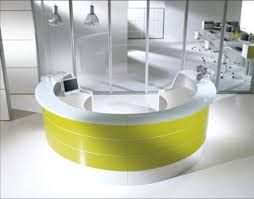 custom round reception desk give us a call 905 669 0112