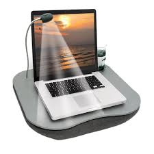 multi purpose laptop tray lap desk with adjule led light cup holder