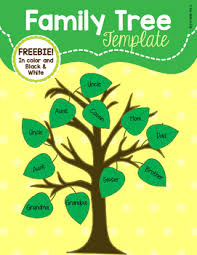 Family Tree Picture Template Family Tree Template Freebie