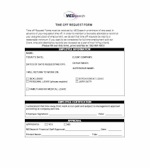 Days Off Request Form Template Employee Vacation Request Form Time Off Free Templates For