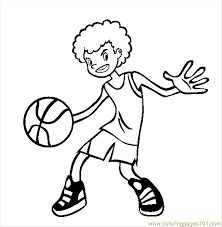 Volleyball Color Pages Basketball Coloring Page Free Volleyball Coloring Pages