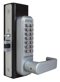 Decorating electronic keyless door lock pictures : Lockey 2985 Keyless Mechanical Digital Adams Rite Style Latch Door ...