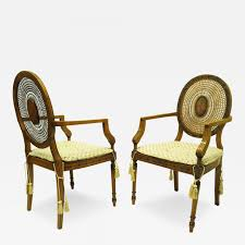 listings furniture seating armchairs pair of adams style satinwood cane back armchairs