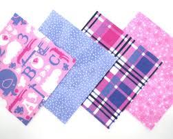 48 Piece Flannel Rag Quilt Kit 6 x6  Pre Cut Quilt Squares in Fun ... & 48 Piece Flannel Rag Quilt Kit 6