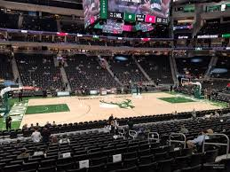 Fiserv Forum Seating Chart Milwaukee Bucks Fiserv Forum Section 107 Milwaukee Bucks Rateyourseats Com