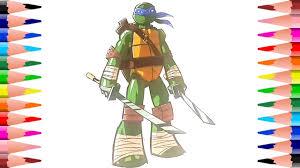 ninja turtles coloring pages leonardo. Perfect Leonardo Painting Teenage Mutant Ninja Turtles Coloring Pages  Leonardo  Book Kids Intended L