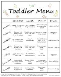 Toddler Meal Plan Chart Toddler Menu Toddler Menu Toddler Snacks Healthy Toddler