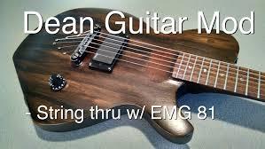 dean guitar custom diy guitar mod