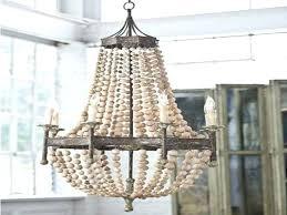 full size of wood bead chandeliers wooden chandelier bali pottery barn coastal iron rope driftwood sea