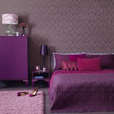 Bedroom:Elegant Purple Bedroom With White Comfort Bed And Small Purple  Pillows Near Twin Drum