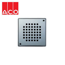 aco shower gully quadrato grate for tiled flooring 135mm x 135mm drainage super