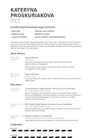 Yoga Teacher Resume Template Little Experience Yoga Teacher