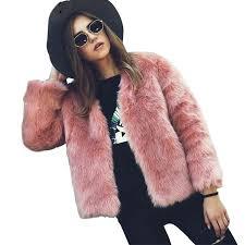 faux fur coat plus size women