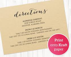 Directions Template Wedding Directions Card Wedding Templates And Printables