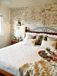 master bedroom makeover brick wall