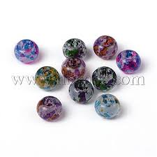 spray painted glass large hole beads rondelle mixed color 10 11x7 5 8mm hole 3 3 5mm x dgla r018 10mm m