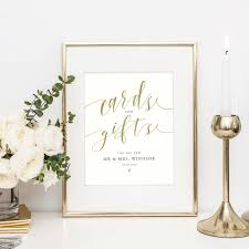 personalised wedding table sign cards and gifts