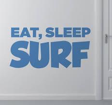 eat sleep surf sticker