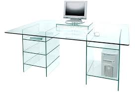 small glass desk image of clear glass computer desk with shelves small le glass table lamp small glass desk