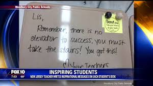 Teacher Message Teacher Writes Inspirational Messages To Her Students