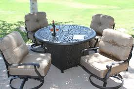 elizabeth cast aluminum powder coated 5pc deep seating set with 52 firepit with enclosure