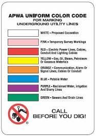 Apwa Uniform Color Code Chart 10 Best Photos Of Uniform Color Code For Utilities Utility