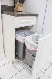 tilt out trash can cabinet garbage can cabinet pull out trash can hardware diy trash can holder