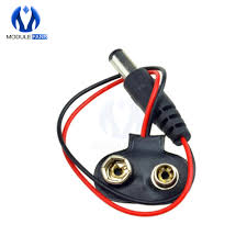 10Pcs Earphone Plug <b>9V Battery Buckle</b> Line T Type Power Supply ...