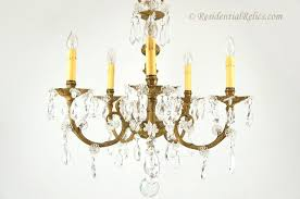 fresh crystal and brass chandelier and 5 candle cast brass and cut crystal chandelier circa 83