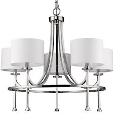 kara polished nickel chandelier drum shades 28 wx24 h
