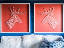how to make an oversized silhouette string art
